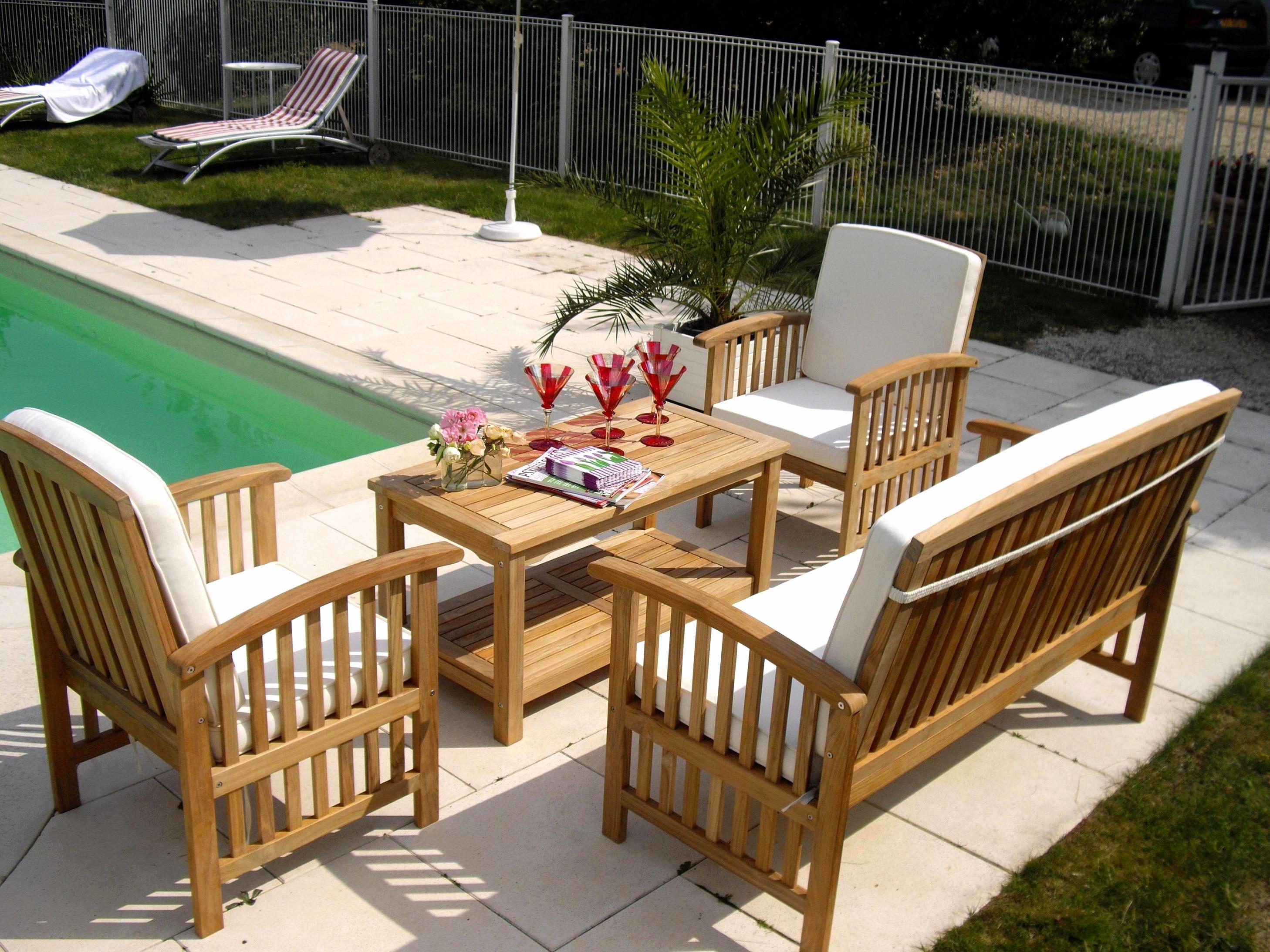 Salon jardin detente teck - Jardin piscine et Cabane