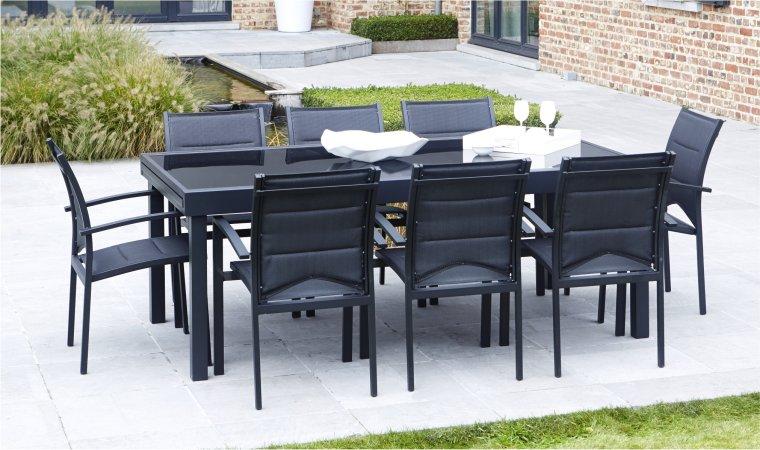 Salon de jardin table extensible aluminium - Jardin piscine et Cabane