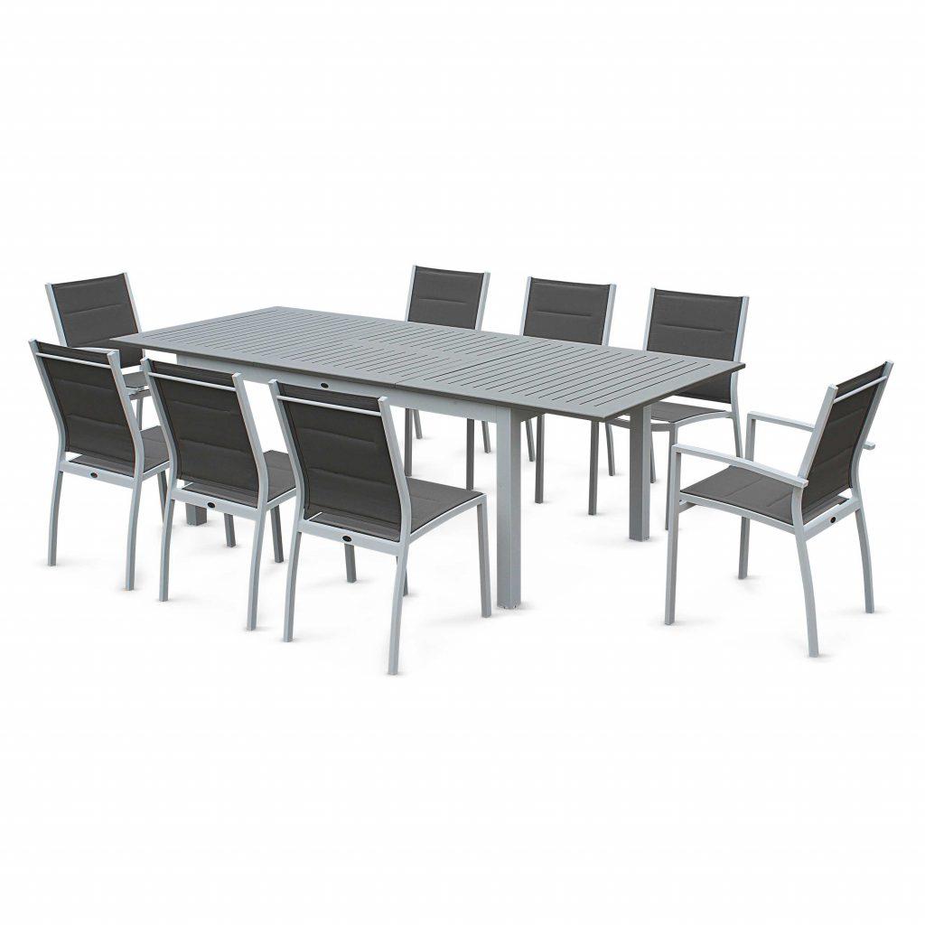 Salon de jardin en textilène table + 8 chaises - Jardin piscine et ...