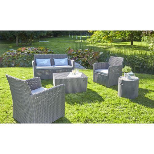 salon de jardin allibert corona jardin piscine et cabane. Black Bedroom Furniture Sets. Home Design Ideas