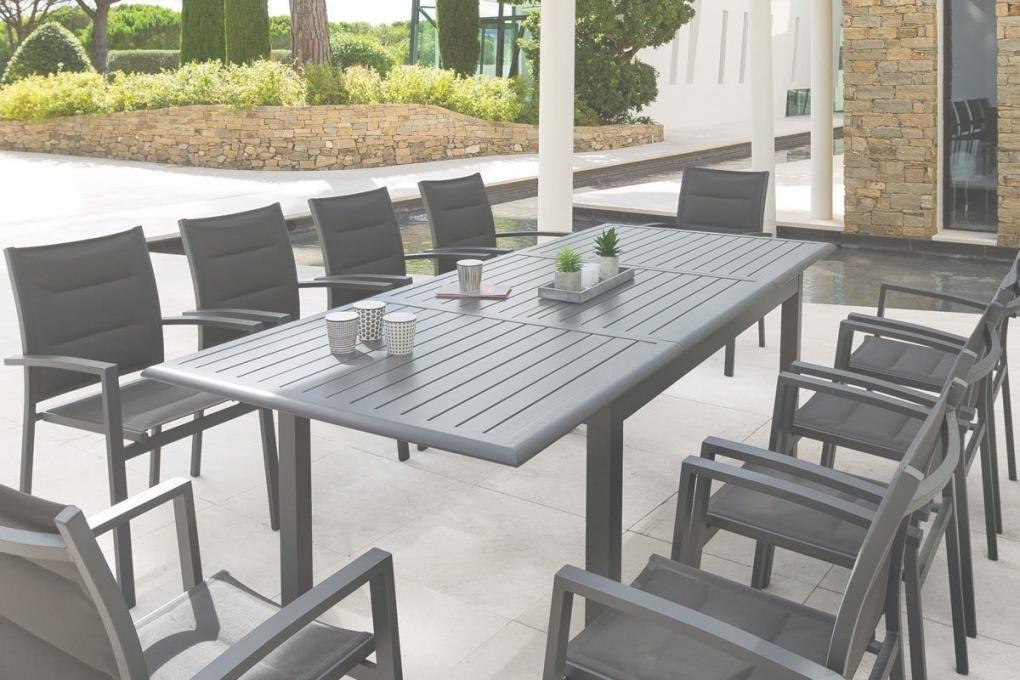 Salon de jardin hesperide azua gris - Jardin piscine et Cabane