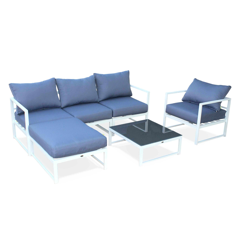 Tessa salon de jardin 5 places aluminium peint noir - Jardin piscine ...