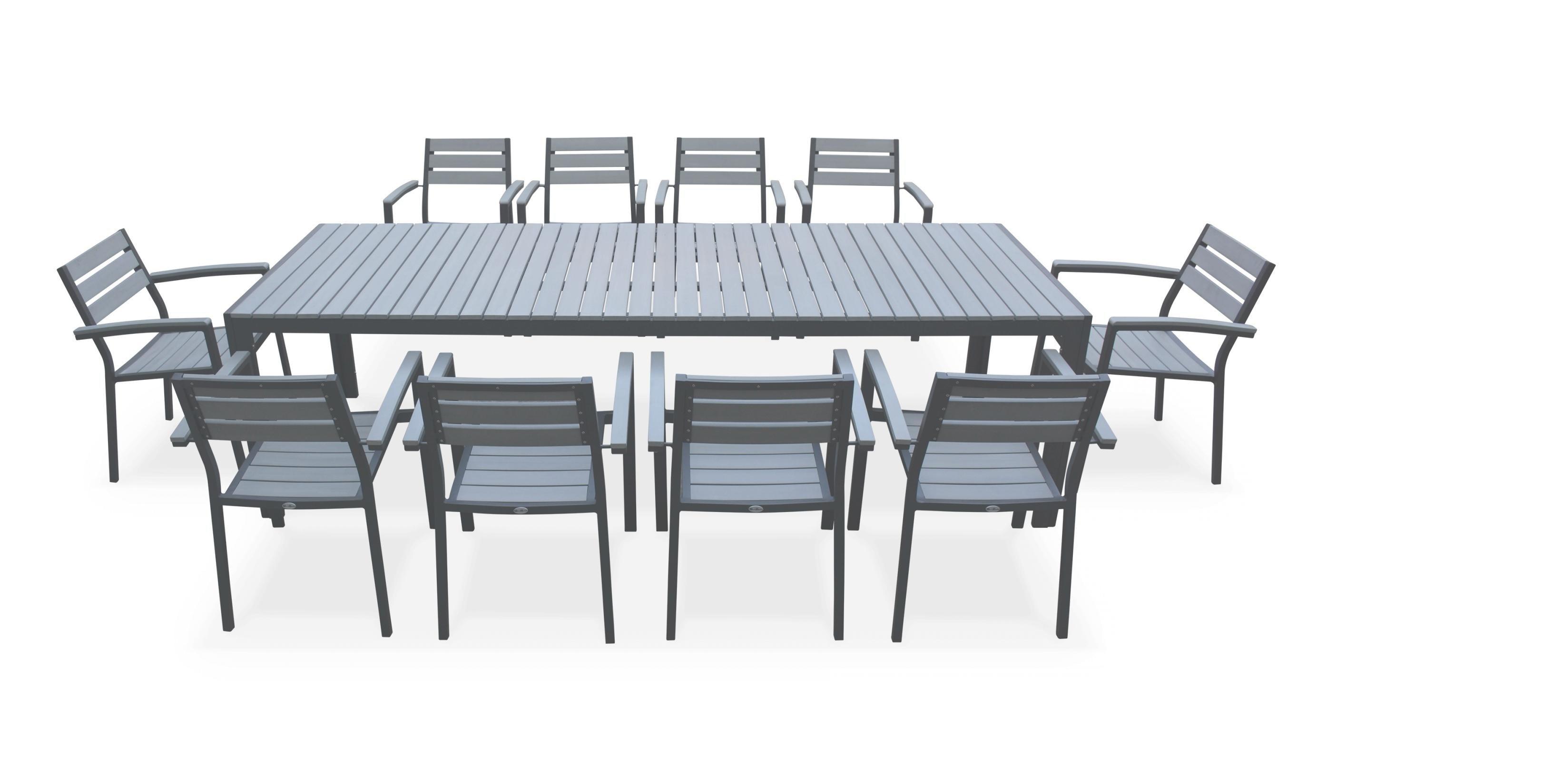 Salon de jardin aluminium polywood - Jardin piscine et Cabane