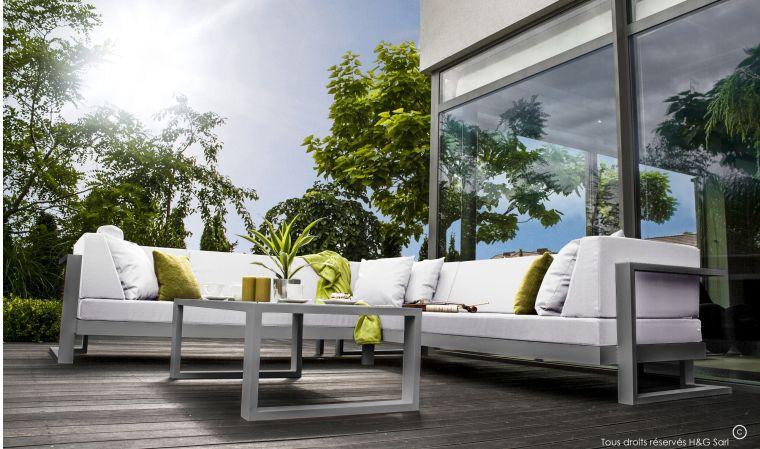 Salon de jardin alu haut de gamme - Jardin piscine et Cabane