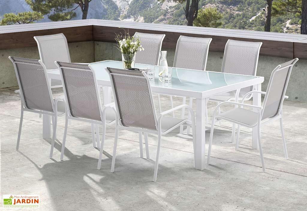 Salon de jardin aluminium blanc - Jardin piscine et Cabane