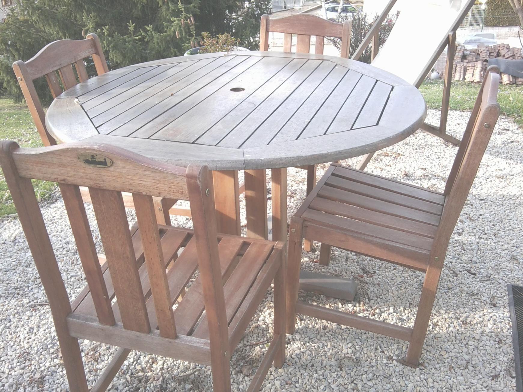Nettoyage salon de jardin en bois exotique - Jardin piscine et Cabane