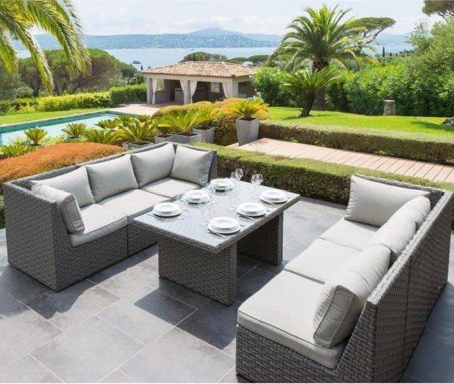 salon de jardin coin repas jardin piscine et cabane. Black Bedroom Furniture Sets. Home Design Ideas