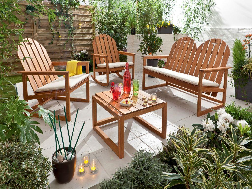 Salon jardin milhos conforama - Jardin piscine et Cabane