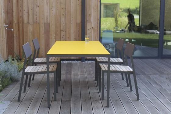 Salon de jardin table 4 chaises