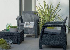 Salon jardin resine tressee - Jardin piscine et Cabane