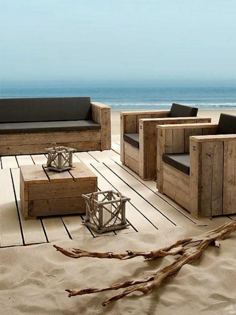 Salon exterieur bois - Jardin piscine et Cabane