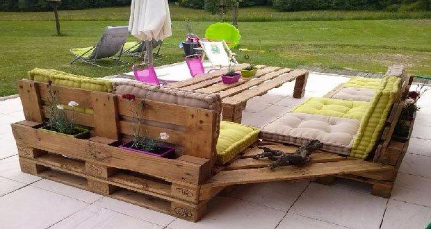 Salon de jardin en palette astuce - Jardin piscine et Cabane