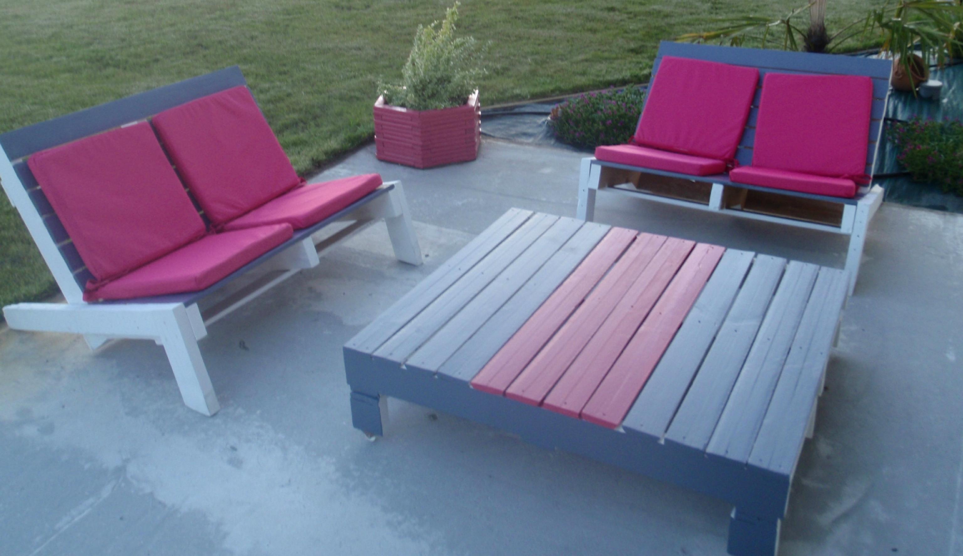 Salon de jardin en palette quel coussin - Jardin piscine et Cabane