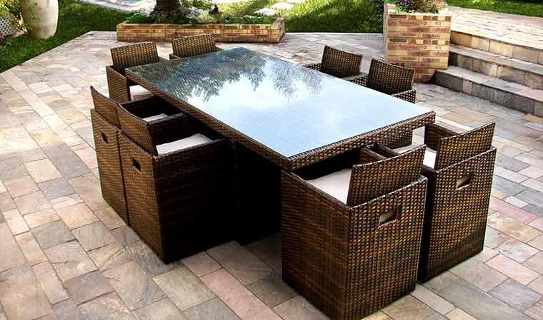 Salon de jardin encastrable belgique - Jardin piscine et Cabane