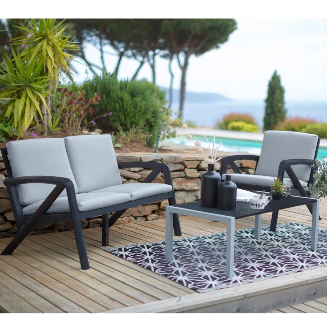 salon de jardin loa castorama jardin piscine et cabane. Black Bedroom Furniture Sets. Home Design Ideas