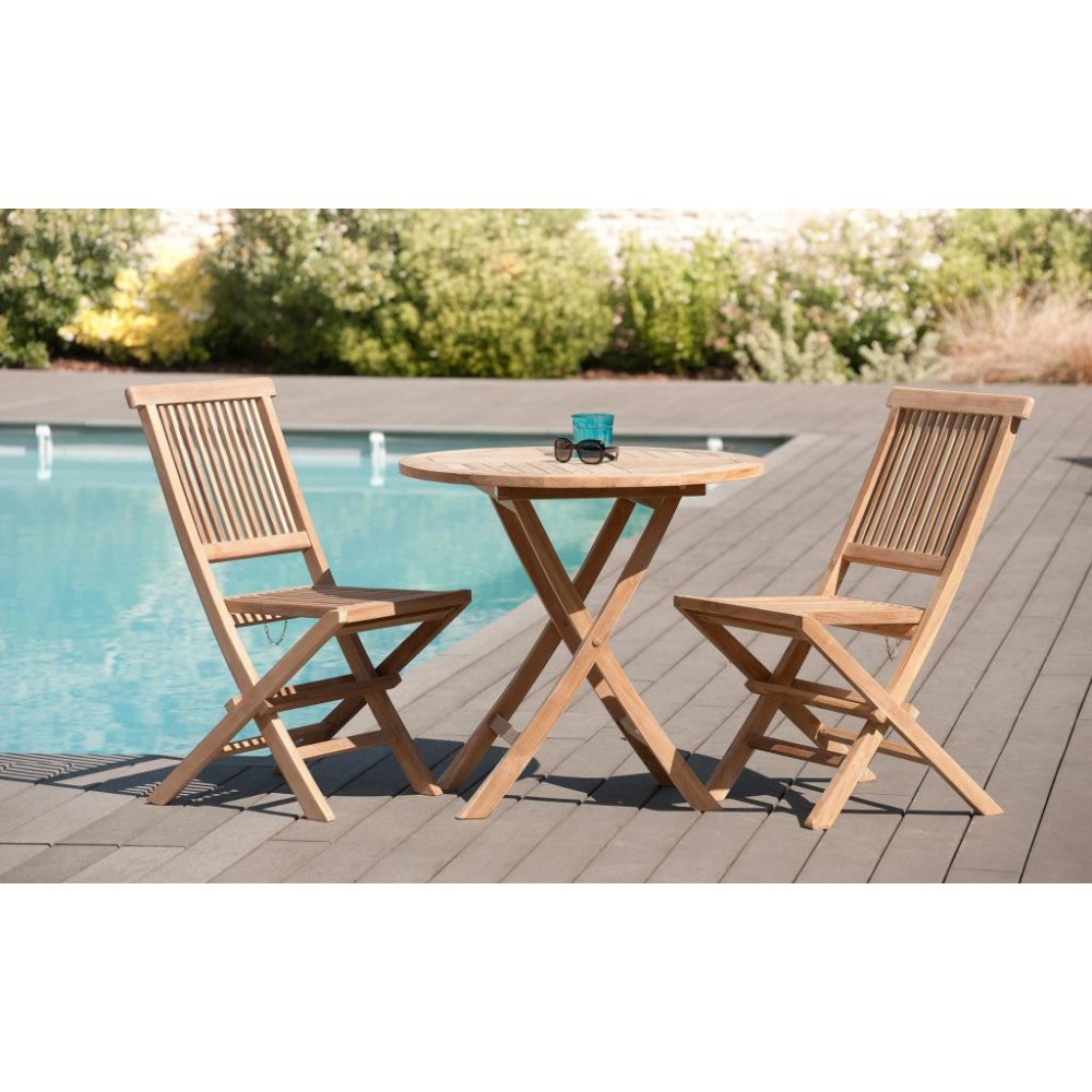 Salon de jardin table plus chaises