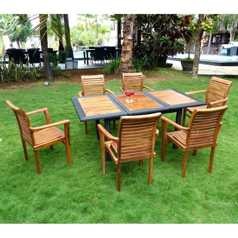 Salon de jardin en teck yfone wood - Jardin piscine et Cabane