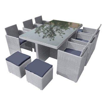 Table salon de jardin resine tressee