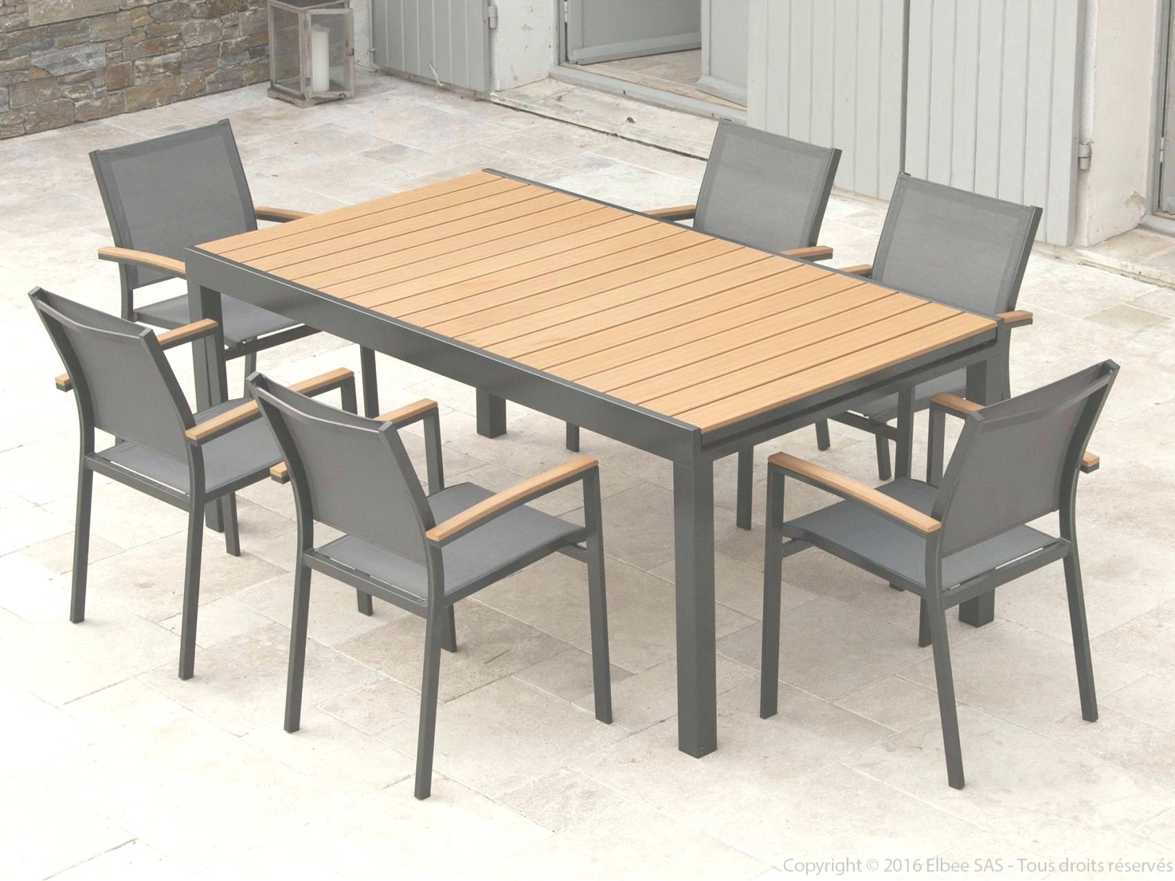 Table salon de jardin imitation bois - Jardin piscine et Cabane