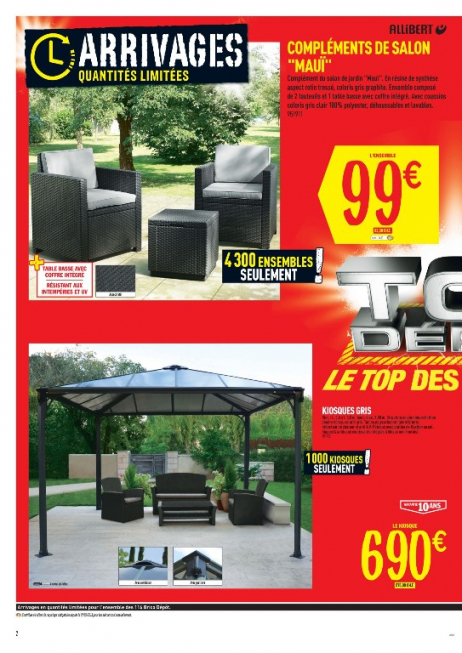 salon de jardin allibert hawaii brico depot jardin. Black Bedroom Furniture Sets. Home Design Ideas