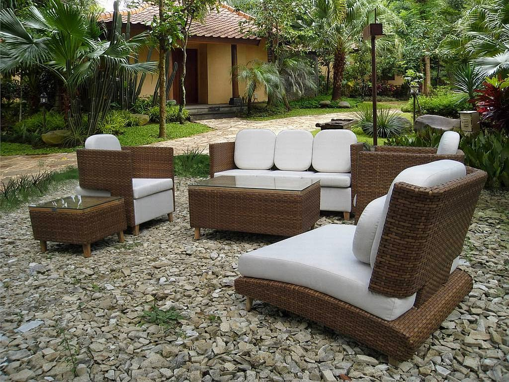 Salon de jardin moderne design - Jardin piscine et Cabane