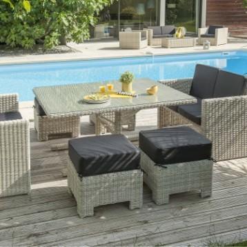 Salon de jardin fer forge mosaique pas cher - Jardin piscine et Cabane