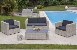 Salon de jardin tressé de qualité - Jardin piscine et Cabane