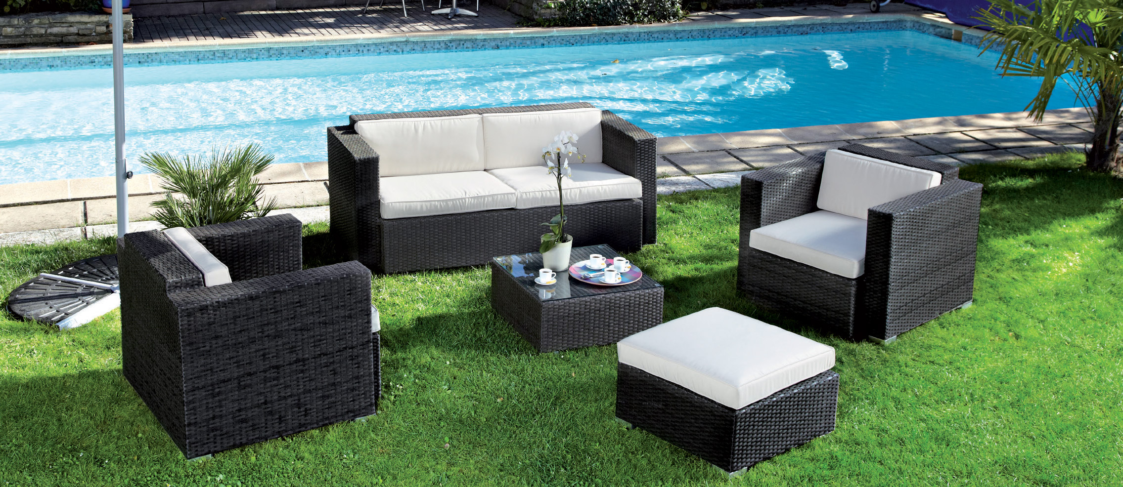 Salon de jardin osier carrefour - Jardin piscine et Cabane