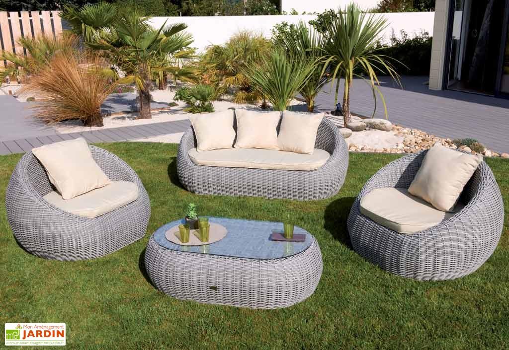 Salon de jardin plastique imitation résine tressée - Jardin piscine ...