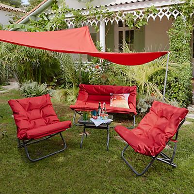 Salon de jardin metal rouge - Jardin piscine et Cabane