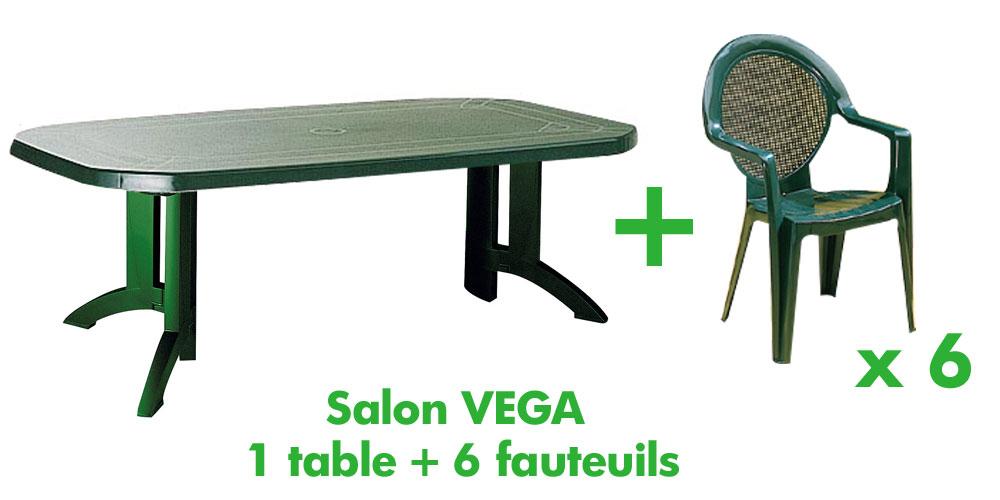 Table de salon de jardin pvc - Jardin piscine et Cabane