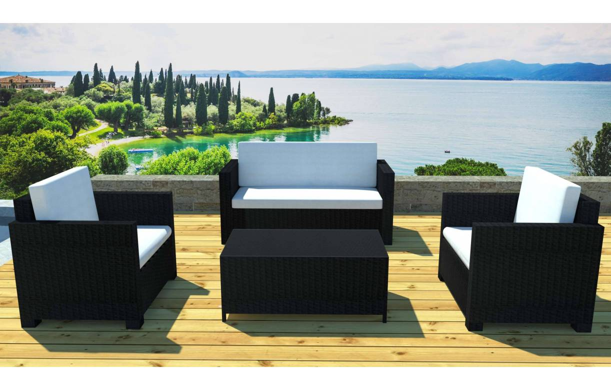Table basse salon de jardin en resine