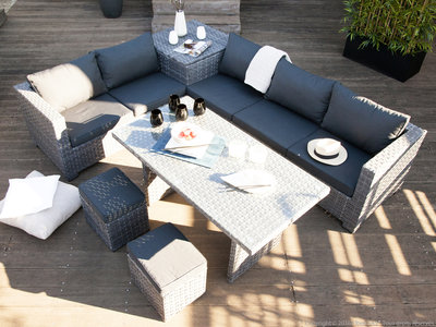 salon de jardin et repas jardin piscine et cabane. Black Bedroom Furniture Sets. Home Design Ideas