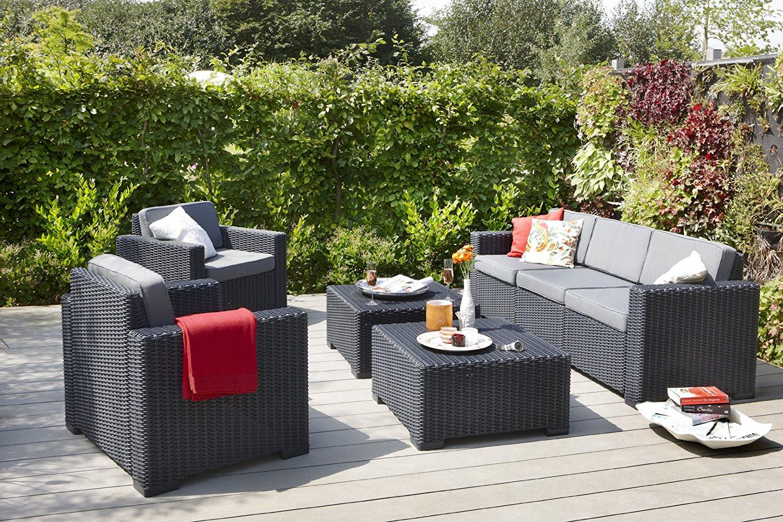 salon de jardin allibert california anthracite jardin. Black Bedroom Furniture Sets. Home Design Ideas