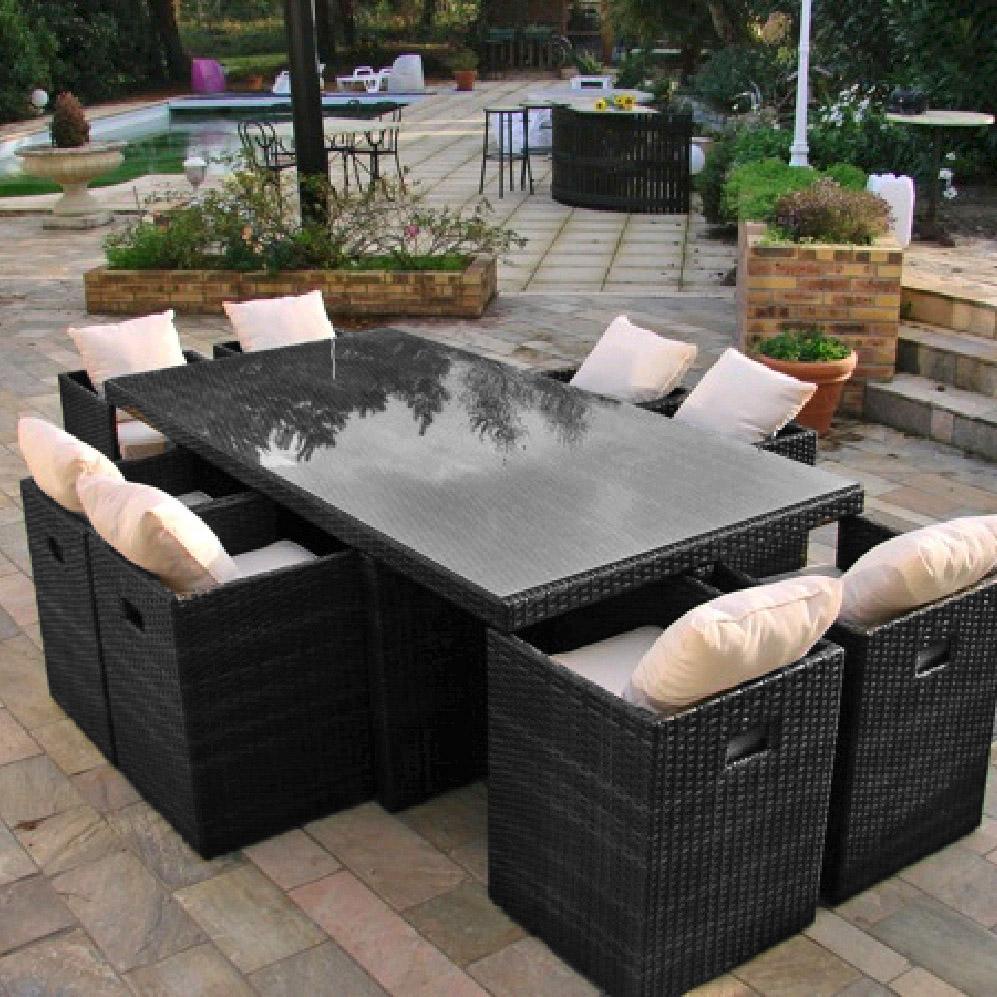 Resine tressee salon jardin - Jardin piscine et Cabane