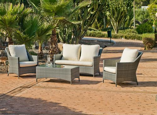 Salon jardin gris taupe - Jardin piscine et Cabane