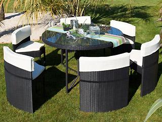 Emejing Salon Jardin Resine Tressee Table Ronde Contemporary - House ...