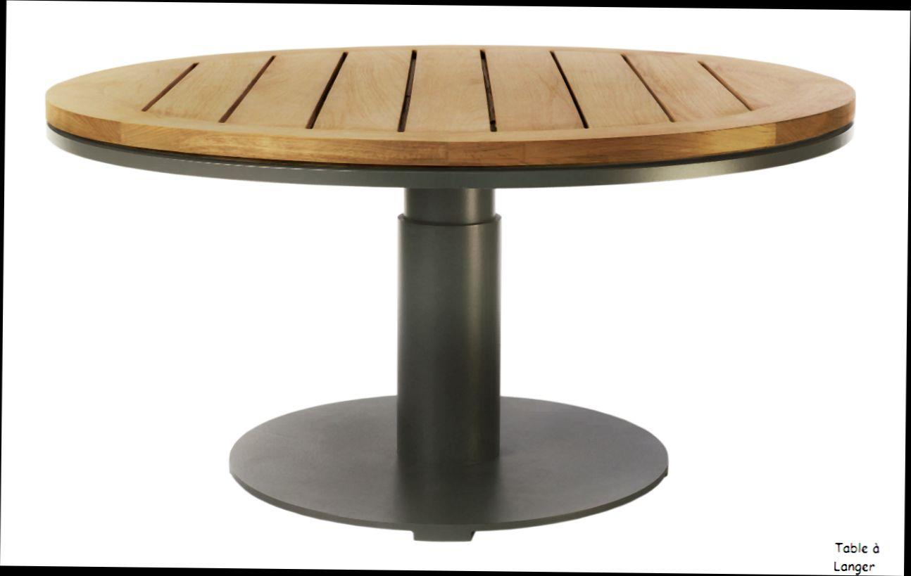 Table de salon de jardin ronde avec rallonge - Jardin piscine et Cabane