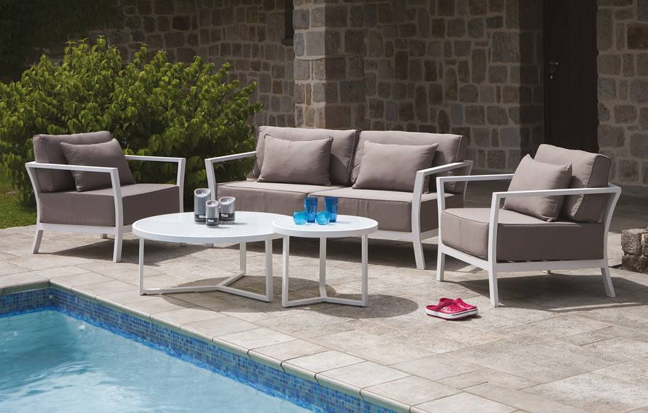 Salon de jardin palma taupe - Jardin piscine et Cabane