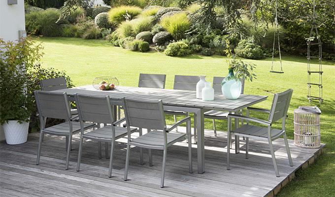 Salon de jardin aluminium epoxy
