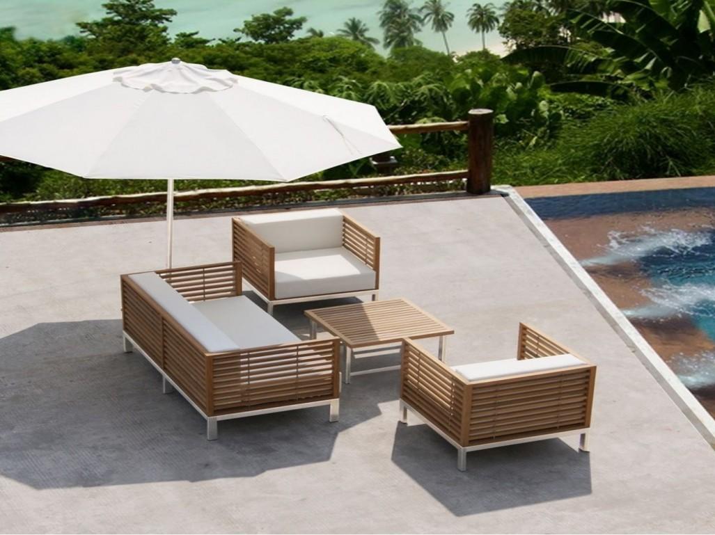 Nettoyer un salon de jardin en bois exotique - Jardin piscine et Cabane