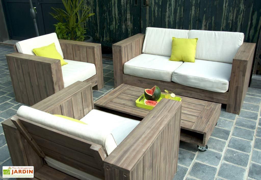 Salon de jardin bois cosmos - résidence