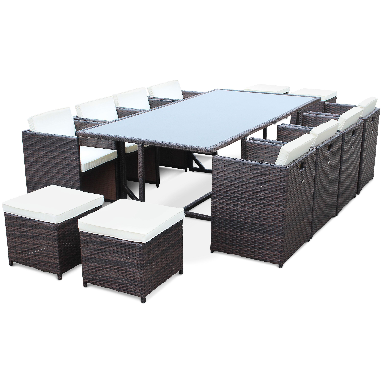 salon de jardin resine 6 places encastrable pas cher. Black Bedroom Furniture Sets. Home Design Ideas