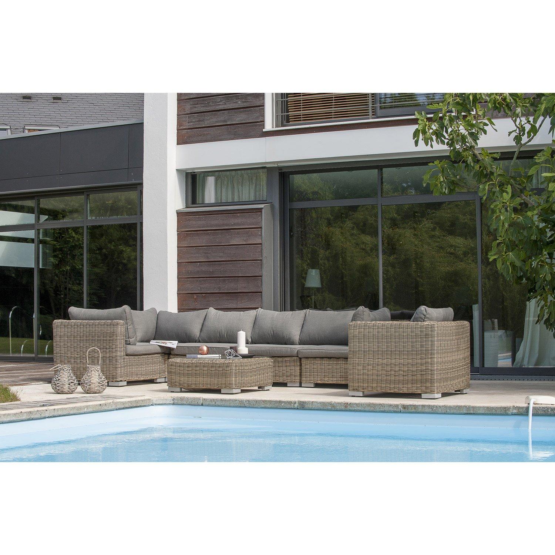Salon de jardin tressé noir leroy merlin - Mailleraye.fr jardin