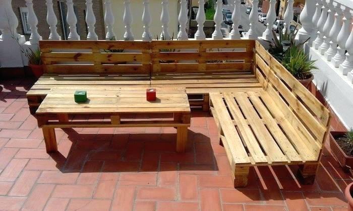 Fabriquer salon de jardin avec palette en bois - Jardin piscine et ...