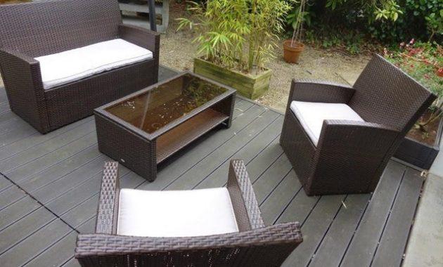 Salon de jardin marron carrefour - Jardin piscine et Cabane