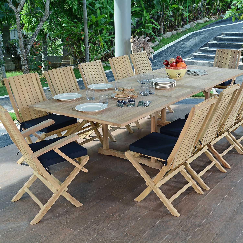 Salon de jardin borneo teck massif - Jardin piscine et Cabane
