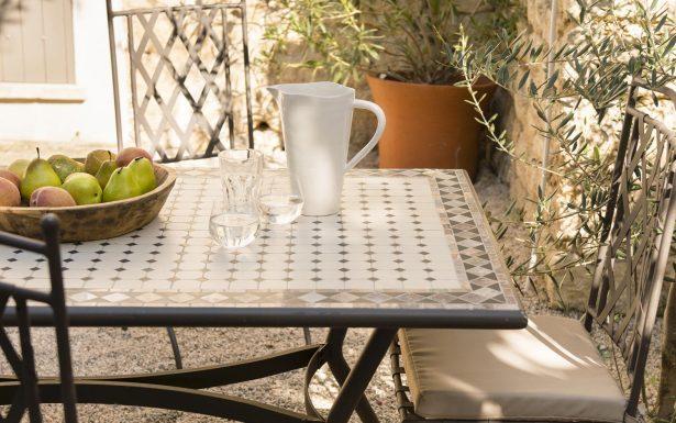 Salon de jardin fer forgé marocain - Jardin piscine et Cabane