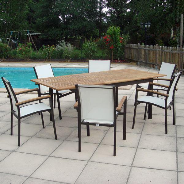 Salon de jardin aluminium ovale - Jardin piscine et Cabane