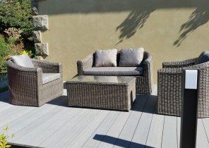 Mini salon de jardin en palette - Jardin piscine et Cabane